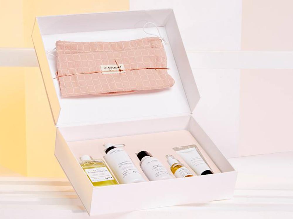 Idées de cadeaux pour Noel Coffret produits de beauté Oh My Cream - maison Poesia